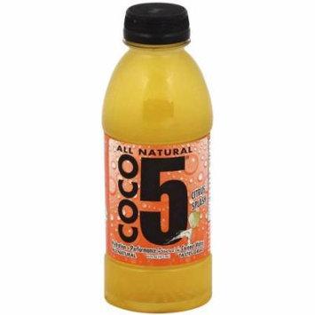 Coco5 Citrus Splash Coconut Water, 16 fl oz, (Pack of 12)
