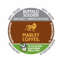 Marley Coffee Buffalo Soldier, RealCup Portion Pack For Keurig Brewers, 144 Count