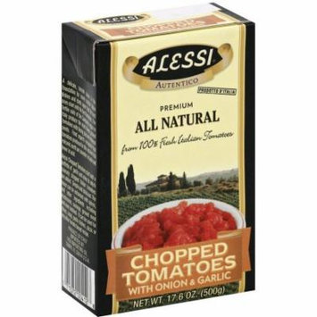 Alessi Chopped Tomatoes with Onion & Garlic, 17.6 oz, (Pack of 12)