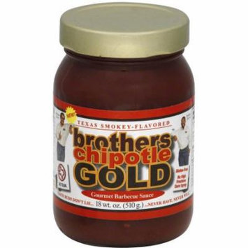 Brothers Chipotle Gold BBQ Sauce, 18 oz, (Pack of 6)