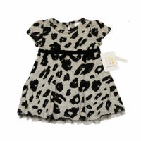 ABSORBA Toddler Girl's Gray Animal Print Ruffled Bottom Dress 2T 3T 4T AUTG5692