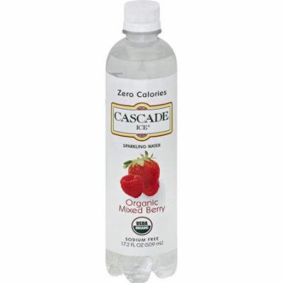 Cascade Ice Organic Mixed Berry Sparkling Water, 17.2 fl oz, (Pack of 12)