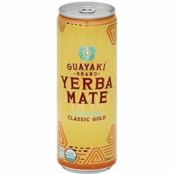 Guayaki Organic Brand Sparkling Classic Gold Yerba Mate Tea, 12 fl oz, (Pack of 12)