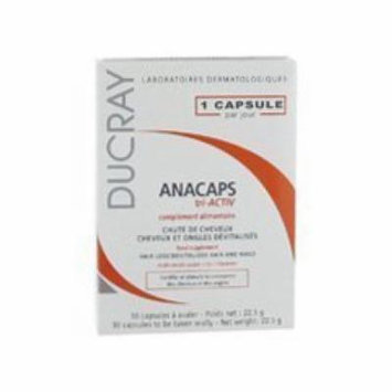 Ducray Anacaps Tri-Activ Capsules Anti Hair Loss Treatment for Fast Hair Growth 30 Caps