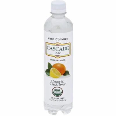 Cascade Ice Organic Citrus Twist Sparkling Water, 17.2 fl oz, (Pack of 12)