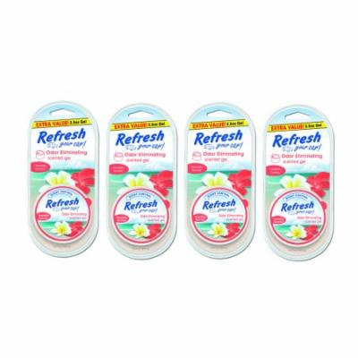 4-Pack Refresh your Car Gel Can 2.5 oz Hawaiian Sunrise Car Air Freshener
