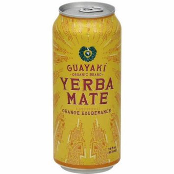 Guayaki Organic Brand Orange Exuberance Yerba Mate Tea, 15.5 fl oz, (Pack of 12)