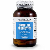 Dr. Mercola Complete Probiotics - 180 Capsules - 70 Billion CFU - 10 Strains - Acid And Bile Resistant - Helps Maintain A Healthy Flora And Promotes Digestion