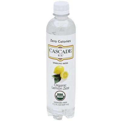 Cascade Ice Organic Lemon Zest Sparkling Water, 17.2 fl oz, (Pack of 12)