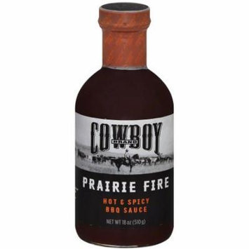 Cowboy Charcoal Fire & Hot Spicy Bbq Sauce, 18 oz, (Pack of 6)