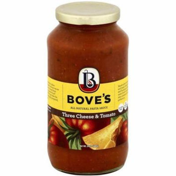 Bove's of Vermont Three Cheese & Tomato Pasta Sauce, 24 oz, (Pack of 6)