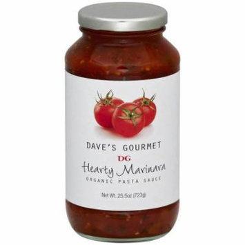 Daves Gourmet Hearty Marinara Organic Pasta Sauce, 25.5 oz, (Pack of 6)