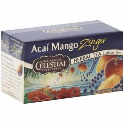 Celestial Seasonings Acai Mango Herbal Tea, 1.5 oz, 20 pack, (Pack of 6)