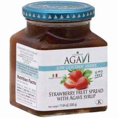 Casa Giulia Strawberry Fruit Spread with Agave Syrup, 11.64 oz, (Pack of 6)