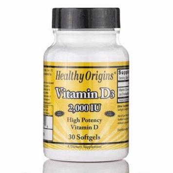 Vitamin D3 2000 IU (Lanolin) - 30 Softgels by Healthy Origins