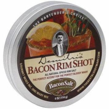 Demitris Bacon Rimshot Rim Salt, 4 oz, (Pack of 8)