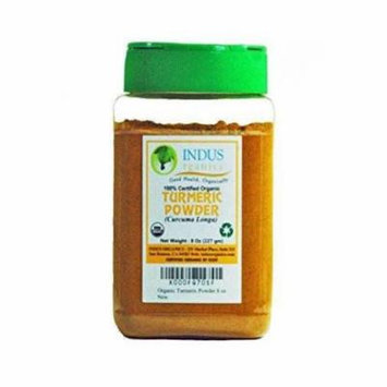 Indus Organic Turmeric (Curcumin) Powder, High Purity, Freshly Packed, 8 Oz