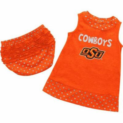 Infant Oklahoma State University Heartbeat Dress with Bloomers