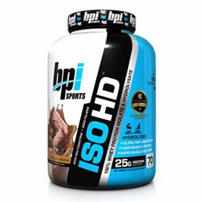 BPI Sports ISO HD Whey Protein Isolate and Hydrolysate, Chocolate Brownie, 5 Pound