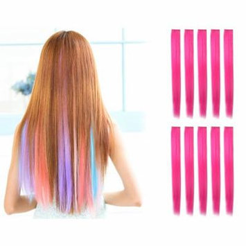 OneDor 23 Inch Straight Colored Party Highlight Clip on in Hair Extensions Multiple Colors