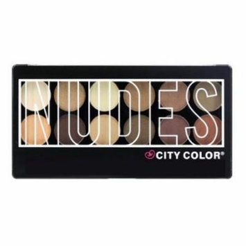 (6 Pack) CITY COLOR Nudes Eye Shadow Palette - 12 Shades