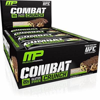 Muscle Pharm Combat Crunch Supplement, Chocolate Chip Cookie Dough, 12 Count, 26.67 Ounce