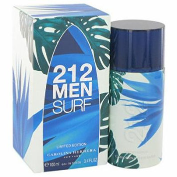 Carolina Herrera Beauty Gift 212 Surf Cologne 3.4 oz Eau De Toilette Spray for Men (Limited Edition 2014)