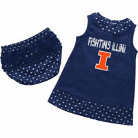 Infant University of Illinois Heartbeat Dress with Bloomers