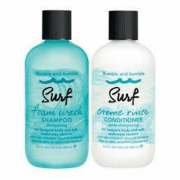 Bumble and Bumble Surf Foam Wash Shampoo 8.5 Oz Surf Creme Rinse Conditioner 8.5 Oz Duo