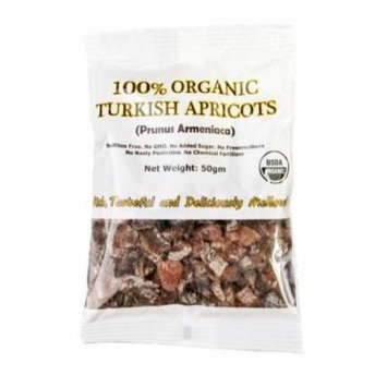 Indus Organics 100% Organic Turkish Dried Apricots Pillow Pack, 12 Count