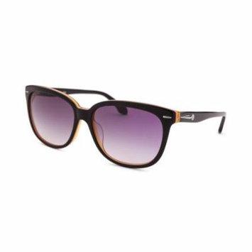 Calvin Klein 4215S-090 Women's Square Black And Orange Sunglasses