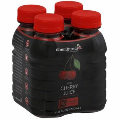 Cheribundi Tart Cherry Juice, 8 fl oz, 4 pack, (Pack of 3)