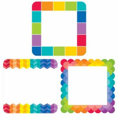 RAINBOW CARDS 6IN CUT OUTS PAINTED PALETTE