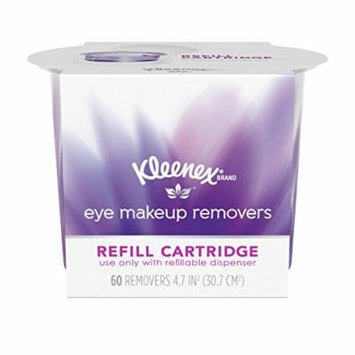 Kleenex Eye Makeup Remover Refill Cartridge, 60 Count, Pack of 4