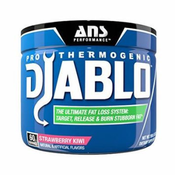 ANS Performance Pro Thermogenic Diablo, Fat Burner for Weight Loss and Targeting Stubborn Fat, Strawberry Kiwi, 60 Servings