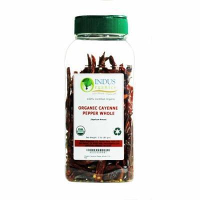 Indus Organics Red Pepper/Cayenne Pepper Whole, 3 Oz