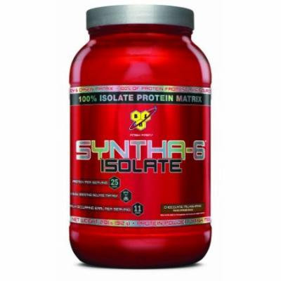 BSN SYNTHA-6 ISOLATE Protein Powder Drink, Chocolate Milkshake, 2.0 lb (24 Servings)