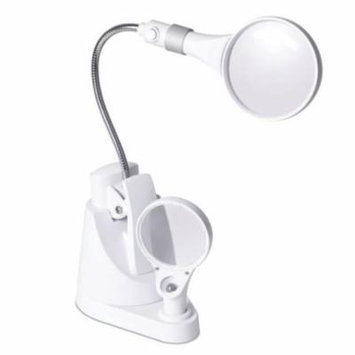 OttLite LED Clip and Freestanding Magnifier Lamp