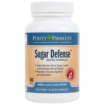 Purity Products - Sugar Defense - 60 Tablets - Normal Blood Sugar Support - Regulate Glucose Digestion and Absorption