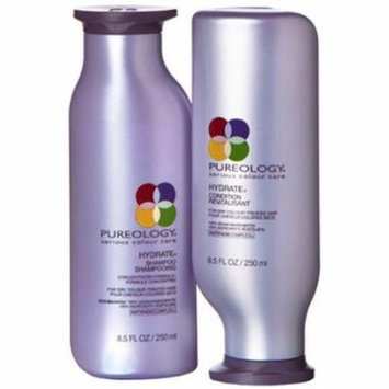 Pureology Hydrate Shampoo 8.5oz and Hydrate Conditioner 8.5 oz Duo Set