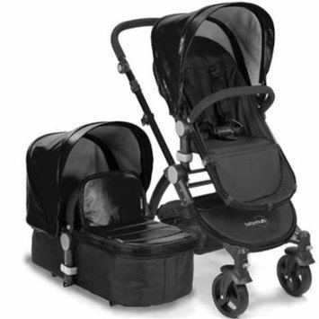 Babyroues 6625 Letour Lux II Leatherette Canopy & Footcover - Black Frame, Black