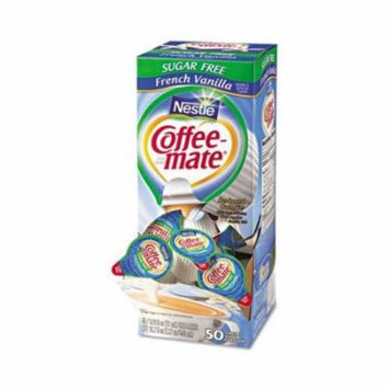 Coffee-mate SF French Vanilla Creamer, .375oz, 50/Box 50000 91757