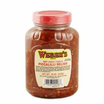 Buffalo's Own Weber's Brand Hot Green Tomato Piccalilli Relish 18oz.