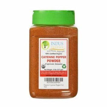 Indus Organics Red Pepper/Cayenne Pepper Powder, 8 Oz