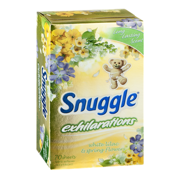 Snuggle Exhilarations Fabric Softener Sheets White Lilac & Spring Flowers - 70 CT