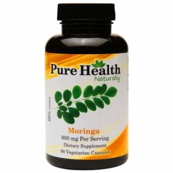 Pure Health Moringa 800mg, Vegetarian Capsules, 90 ea