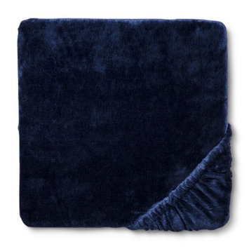 Chamois Blue Overalls Fitted Crib Sheet by Circo