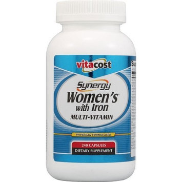 Vitacost Brand Vitacost Synergy Women's with Iron Multi-Vitamin -- 240 Capsules