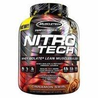 MuscleTech Nitrotech Whey Isolate Plus Protein Powder, Cinnamon Swirl, 4 Pound