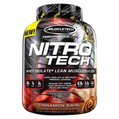 MuscleTech Nitrotech Whey Isolate Plus Protein Powder, Cinnamon Swirl, 4 Pound